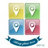 Pin location  the map — Vetor de Stock