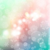 New year blur background with snowflakes — Stock vektor