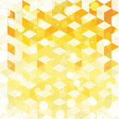 Yellow pattern of geometric shapes. Colorful mosaic backdrop. Geometric retro background — Stockvector