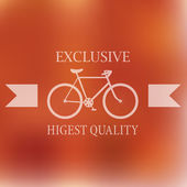 Vintage label background with bicycle — Stock Vector