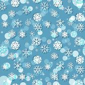 Textura transparente de invierno los copos de nieve — Vector de stock