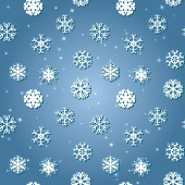 Snowflakes Winter seamless texture — Stock Vector