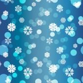 Snowflakes Winter seamless texture — 图库矢量图片
