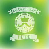 Hipster  retro  label — Stock Vector