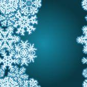 Snowflakes Winter seamless border, seamless texture, endless pattern — 图库矢量图片