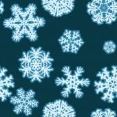 Snowflakes Winter seamless texture, endless pattern — Wektor stockowy