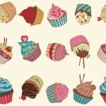 Cupcake pattern — Stock Vector #59037309