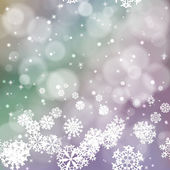 New year blur background with snowflakes — Stock Vector