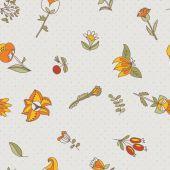 Flower seamless texture — Stock Vector