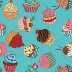 Cupcake pattern — Stock Vector #59464837