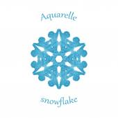 Aquarelle snowflake — Stock Vector