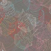 Cupcake pattern — Stock Vector