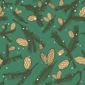 Pine cone pattern — Stock Vector