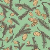 Pine cone pattern — Stockvector