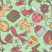 New year seamless pattern. Endless Christmas template — Stockvektor
