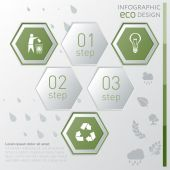 Eco infographic template.  — Stock Vector