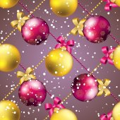 Wallpaper with bow and ribbon. — Stok Vektör