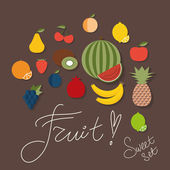 Fruit icon. The image of fruits and berries symbol — ストックベクタ