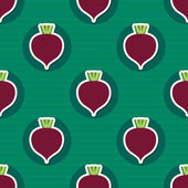 Beet pattern. Seamless texture with beetroot — Stock Vector