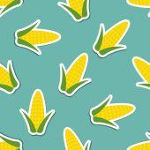 Corn pattern. Seamless texture  — Stock Vector