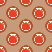 Tomato pattern. Seamless texture with ripe red tomatoes — Stock Vector