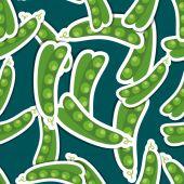 Pea pattern. Seamless texture  — Stock Vector