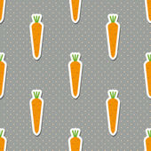 Carrot pattern. Seamless texture with ripe carrots — Stock Vector