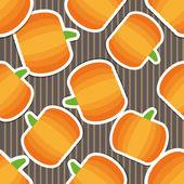Pumpkin pattern. Seamless texture with ripe pumpkins — Stock Vector