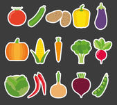 Vegetable icon set. The image of vegetables symbol — ストックベクタ