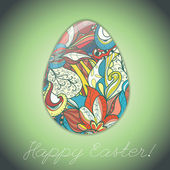 Easter egg greeting card — Stockvektor