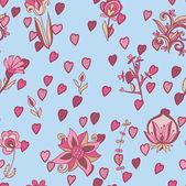 Valentine floral pattern — Stock Vector