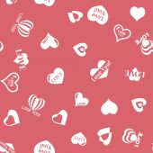Heart pattern to Valentines Day. Seamless texture with Hearts — Stock Vector