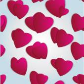 Valentines day. Abstract paper hearts. Love. Valentine background with hearts — Wektor stockowy
