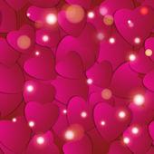 Valentijnsdag. Abstract papier harten. Liefde. Valentine achtergrond met hart — Stockvector