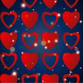 Valentines day. Abstract paper hearts. Love. Valentine background with hearts — Vettoriale Stock