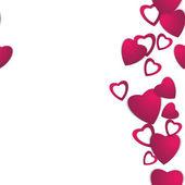 Valentinstag. Abstrakte Papier Herzen. Liebe. Valentine-Hintergrund mit Herzen — Stockvektor