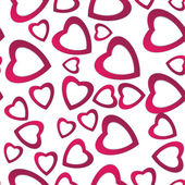 Valentines day. Abstract paper hearts. Love. Valentine background with hearts — Stock Vector