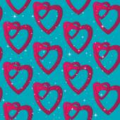 Valentines day. Abstract paper hearts. Love. Valentine background with hearts — Vetor de Stock