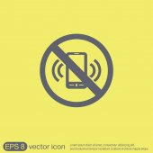 Forbidden to use phone sign — Stock Vector