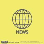 Globe symbol. news icon — Stock Vector