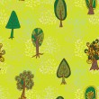 Forest trees Seamless pattern — Stock Vector #66983633