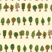 Forest trees  Seamless pattern — Stock Vector