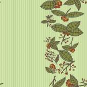 Cranberry pattern border background — Stockvector