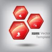 Hexagon elements for infographic — ストックベクタ