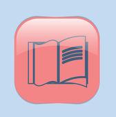 Icône représentant un livre ouvert — Vecteur
