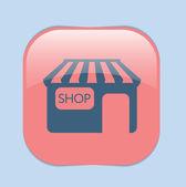 Shop building. symbol  of store — Stock Vector