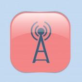Tower wi-fi, wireless icon — ストックベクタ