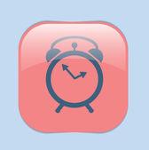 Väckarklocka-ikonen, tid symbol — Stockvektor