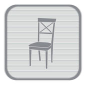 Chair, furniture icon — Stock Vector