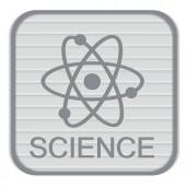 Atom, science icon — Stockvektor
